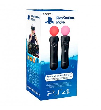 Sony Playstation Move - Mandos de movimiento PS4, Pack 2, proyecta tus manos en el mundo virtual, (CECH-ZCM1E)