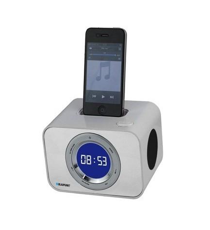 Blaupunkt ICLOCK-10 - Radio despertador, dockstation para Iphone, almacena 20 presintonías de FM, Color Blanco