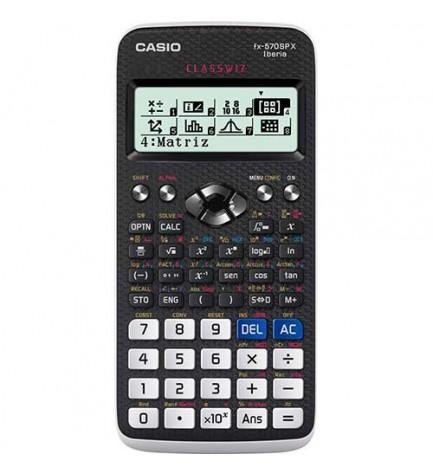 Casio FX-570SP X - Calculadora científica, 552 funciones, pantalla LCD, resultados en un smartphone o tablet, color Negro