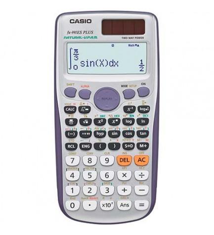 Casio FX-991ES Plus - Calculadora científica, 417 funciones, 40 constantes, cálculo vectorial, color Gris