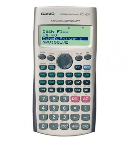Casio FC-100V - Calculadora financiera, modo directo, nueva operación, accesos directos, color Gris