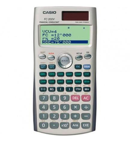 Casio FC-200V - Calculadora financiera, cálculo de bonos, depreciación, accesos directos, modo directo, color Gris