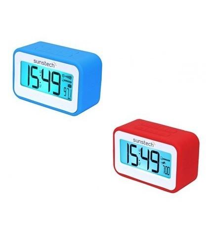 Sunstech FRD30U - Radio despertador, alarma dual programable, USB para recarga de smartphones