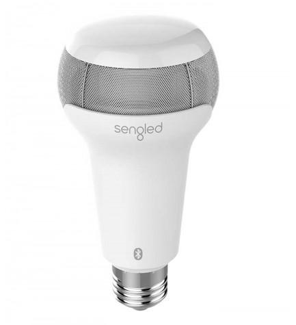 Sengled Pulse Solo - Bombilla LED con altavoz, Bluetooth, reproductor, controla la iluminación con tu smartphone, color Blanco
