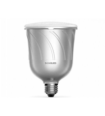 Sengled Pulse Master - Bombilla LED con altavoz, Bluetooth, bombilla principal, color Plata