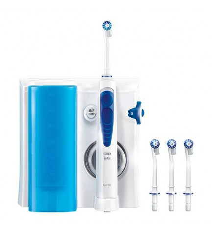 Oral-B Professional Care OxyJet - Irrigador, ideal en limpieza de puentes, implantes y aparatos de ortodoncia, regulador presion