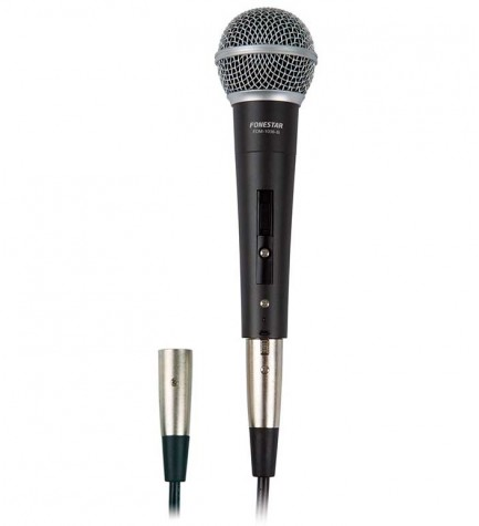 Fonestar FDM-1036 - Micrófono, con cápsula dinámica unidireccional cardioide, color Gris