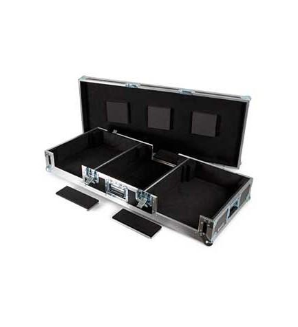 Fonestar FRC-285 - Cajas de transporte DJ, forro interior de foam, preparado para mezcladores, CD's, giradiscos