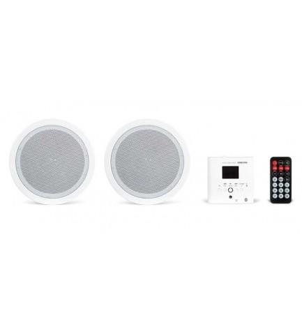 Fonestar KS-05 - Amplificador de pared y altavoces de techo, fácil integración e instalación, gran calidad de sonido