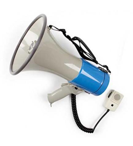 Fonestar MF-215S - Megáfono, sirena y micrófono de mano incorporados, 15W de potencia