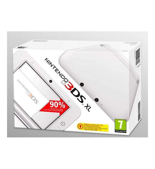 Nintendo 3DS XL - Consola portátil, pantallas 90% más grandes que Nintendo 3DS, estilizada y ergonómica, color Blanco