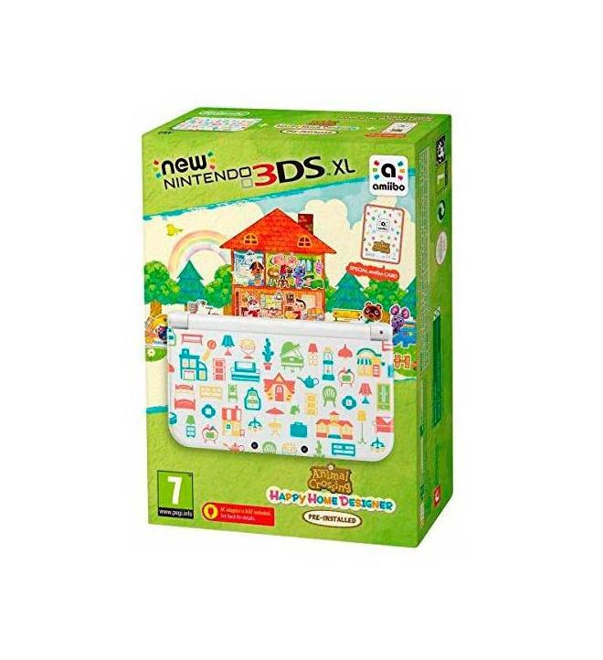 Nintendo New 3DS XL Animal Crossing Happy Home Designer - Consola portátil, incluye juego preinstalado, diseño personalizado