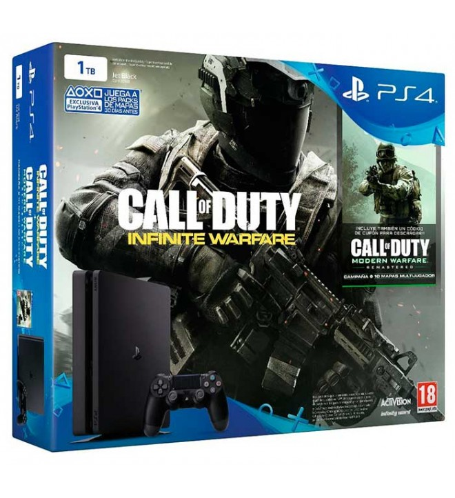 Sony Playstation 4 Slim Legacy Call of Dutty - Consola, incluye dos juegos de la saga, capacidad 1 TB, procesador OctaCore