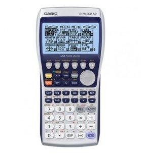 Casio FX-9860GII SD - Calculadora gráfica, permite tarjeta SD, integrales, diferenciales, probabilidad, color Blanco