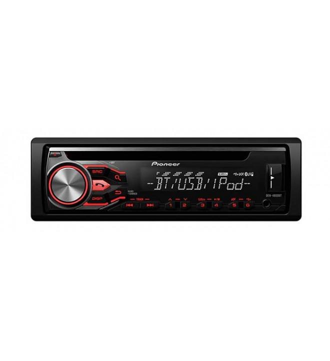 Pioneer DEH-4800BT - Autoradio, CD, sintonizador RDS, bluetooth, entrada AUX, USB, control directo de iPod, iPhone