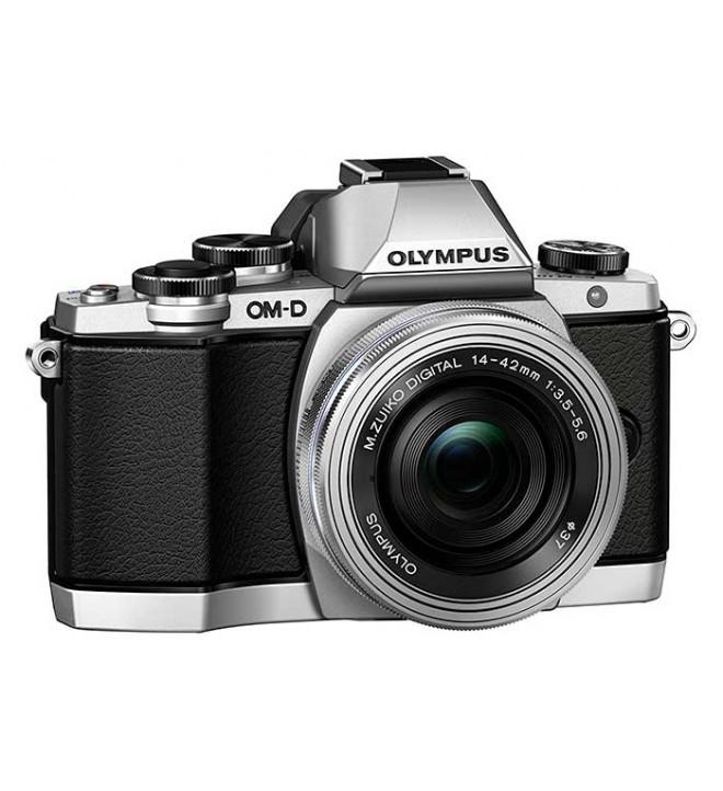Olympus OM-D E-M10 + 14-42mm - Cámara sin espejo, 16.1 Mpx, PanCake, color Plata