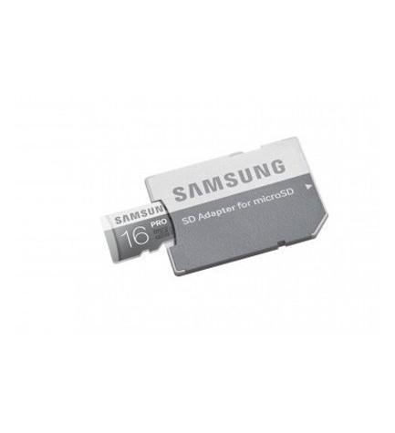 Samsung Micro SD HC PRO - Tarjeta 16 GB, Clase 10, incluye adaptador