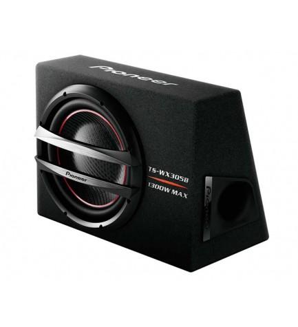 Pioneer TS-WX305B - Subowoofer, Bass Reflex, reproduce tonos de bajo potentes, robustez y estabilidad, potencia 1300w