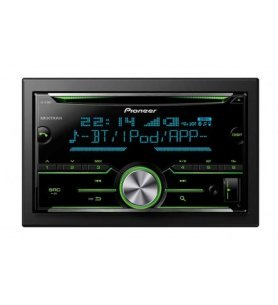 Pioneer FH-X730BT - Autoradio, doble DIN, CD, Bluetooth, USB, Spotify, conectividad Apple iOS, Android