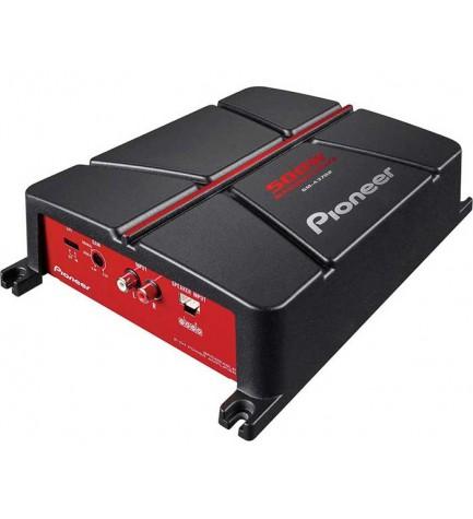 Pioneer GM-A3702 - Amplificador, 500w, 2 canales, puenteable, detección automática de señal, activación automática