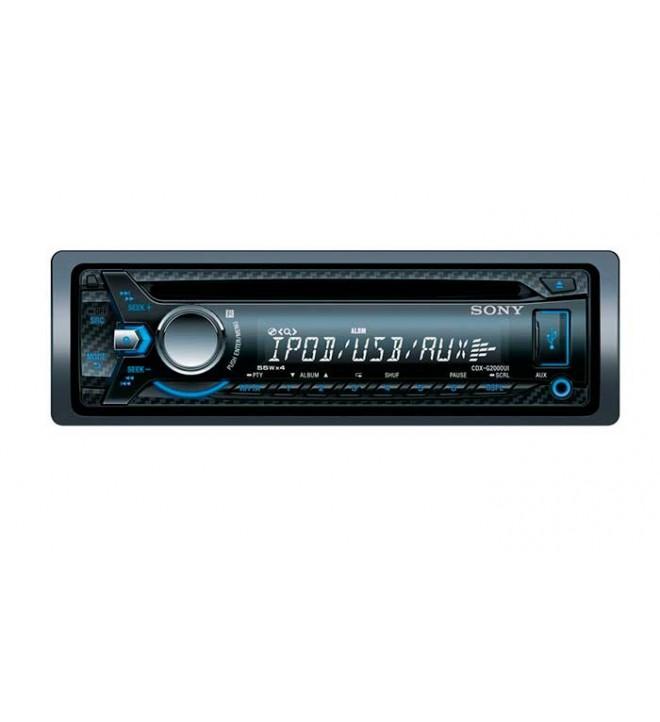 Sony CDX-G2000UI - Autoradio, AUX, USB, iluminación azul, potencia de salida 4x55w, color Negro