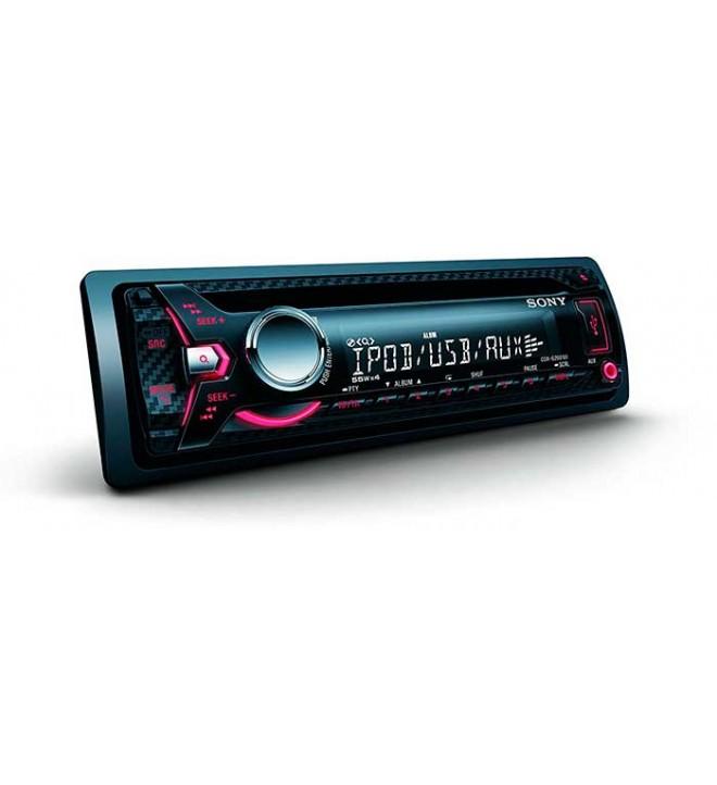 Sony CDX-G2001UI - Autoradio, AUX, USB, iluminación rojo, potencia de salida 4x55w, color Negro