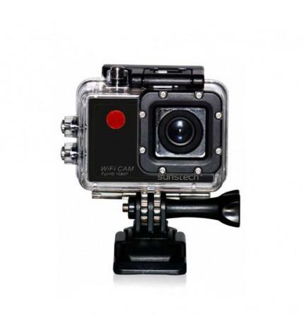 Sunstech ActionCAM10 - Cámara de acción, ultraligera, micrófono integrado, gran angular, WiFi, color Negro