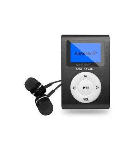 Sunstech DEDALOIII - Reproductor MP3, capacidad 4GB, pinza de sujeción incorporada, color Azul
