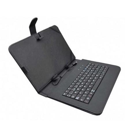 Sunstech KEY - Funda con teclado, 7 pulgadas, material resistente, protección completa, color Negro