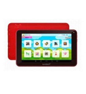 Sunstech KIDS7DUAL - Tablet, diseñada para niños, control parental avanzado, 7 pulgadas, capacidad 4GB, color Rojo