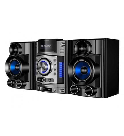 Sunstech NSX100BTDVD - Sistema Hi-Fi, bluetooth integrado, 50w RMS x 2, sintonizador FM, alta calidad de sonido, color Negro