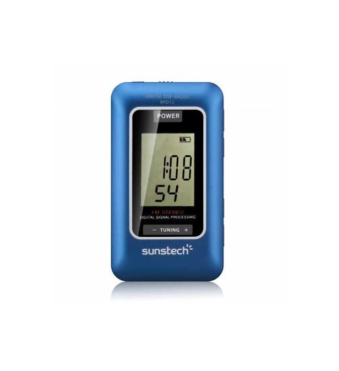 Sunstech RPD12 - Radio portátil, sintonizador AM, FM, memoria 60 presintonías, color Azul