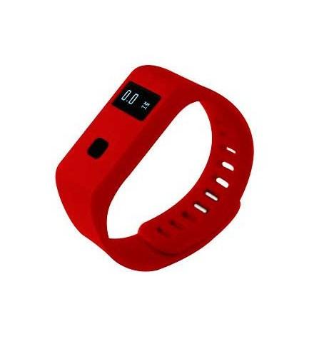 Sunstech RUNNER10 - Smartband, avisos de llamadas, mensajes, sumergible, calorías, control de sueño, color Rojo