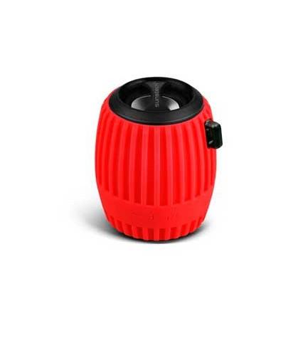 Sunstech SPBTFM630 - Altavoz bluetooth, sintonizador FM, potencia 3w RMS, color Rojo