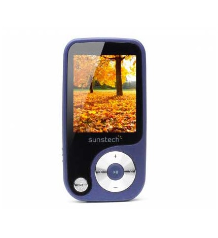 Sunstech THORN - Reproductor MP4, capacidad 4GB, pantalla 1.8 pulgadas, sintonizador FM, lector SD, color Azul