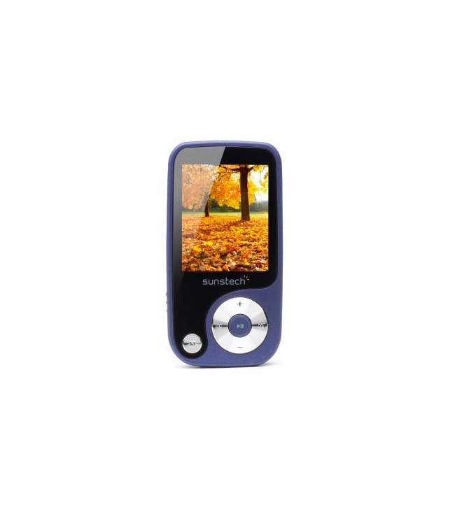 Sunstech THORN - Reproductor MP4, capacidad 4GB, pantalla 1.8 pulgadas, sintonizador FM, lector SD, color Azul