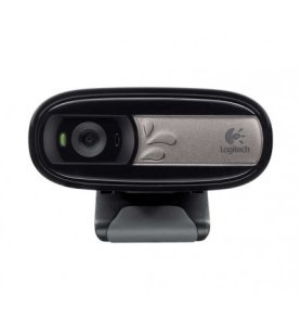 Logitech C170 - Webcam, Plug and Play, sonido claro, micrófono integrado, fluidez, nitidez, claridad, color Negro