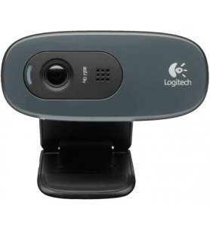 Logitech C270 - Webcam, vídeos 720p, sonido claro, micrófono integrado, fluidez, nitidez, claridad, color Negro
