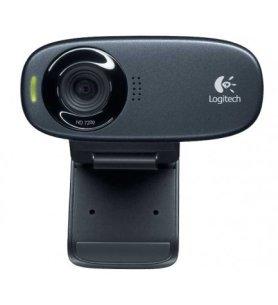 Logitech C310 - Webcam, videoconferencias en alta definición, vídeos 720p, sonido claro, diseño elegante, color Negro