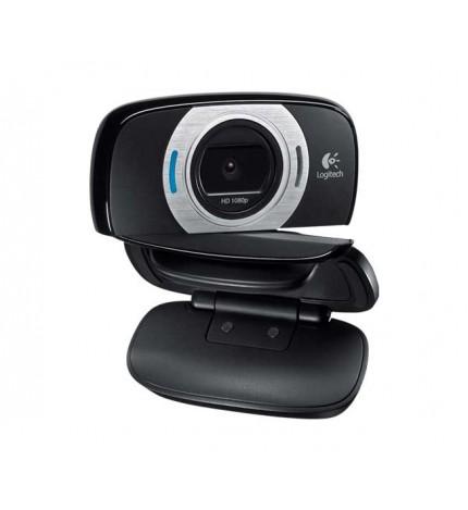 Logitech C615 - Webcam, grabación Full HD 1080p, videoconferencias 720p, diseño plegable, sonido e imagen superior, color Negro