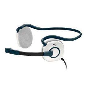 Logitech H130 - Auriculares, sonido estéreo, ajuste cómodo y elegante, micrófono con supresión de ruidos, color blanco
