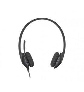 Logitech H340 - Auriculares, conectividad USB, Plug and Play, micrófono incorporado, supresión de ruidos, color Negro