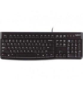 Logitech K120 - Teclado, teclas silenciosas, escritura cómoda, diseño atractivo y robusto, conectividad USB, color Negro