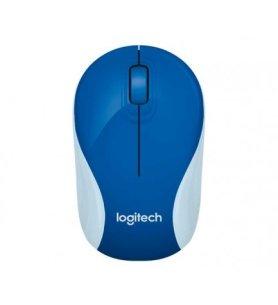Logitech M187 - Ratón inalámbrico mini, diseño compacto y portable, conexión fiable sin interrupciones, color Azul