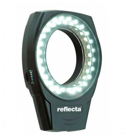 Reflecta 20378 RRL 49 Makro - Flash, perfecto para macros en condiciones de iluminación desfavorable, color Negro