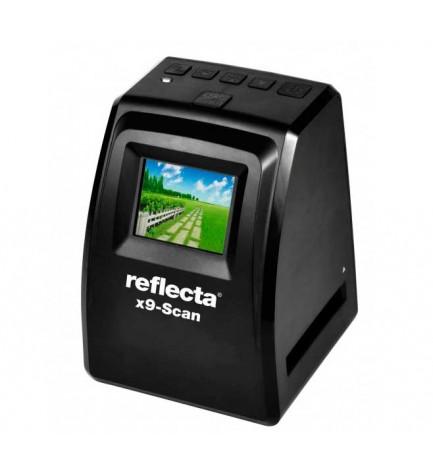 Reflecta 64290 x9-Scan - Escaner, de diapositivas, escaneos de alta calidad sin necesidad de PC, pantalla LCD, color Negro