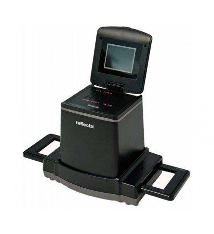 Reflecta 64385 x120 - Escáner, diseñado para formatos intermedios, resolución de 14 megapíxeles, color Negro