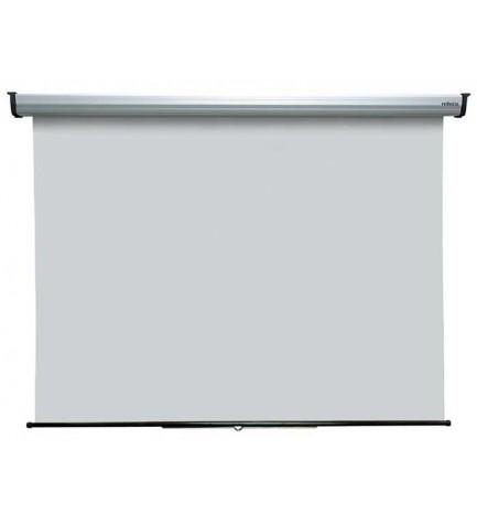 Reflecta 80910 Silverline - Pantalla de proyección, dimensiones 180x190 cm, enrrollable, sistema autoblocante, formato ajustable