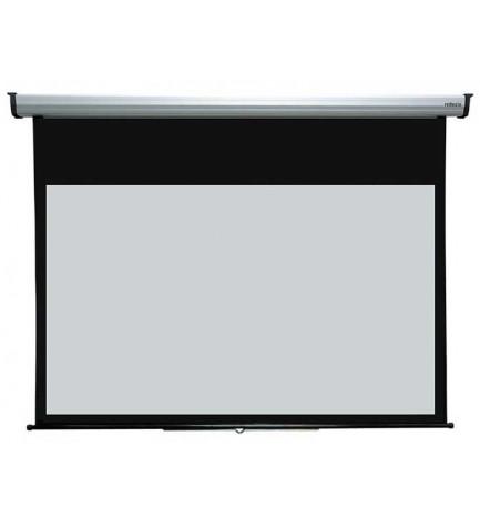 Reflecta 80924 Silverline - Pantalla de proyección, dimensiones 200x183 cm, enrrollable, mecanismo de bloqueo incorporado