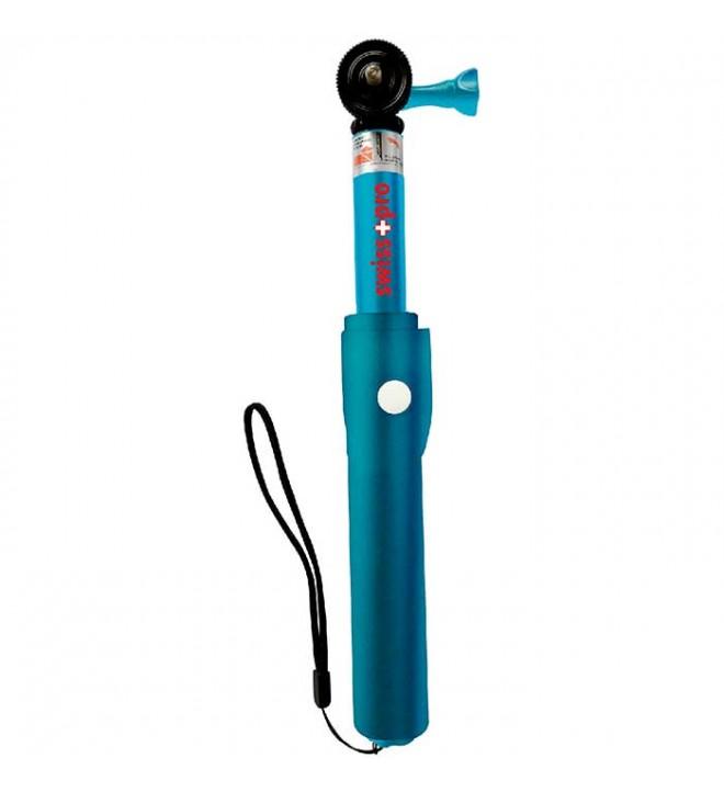 Swiss+Pro Elite - Palo Extensible, bluetooth, longitud 100 cm, color Azul